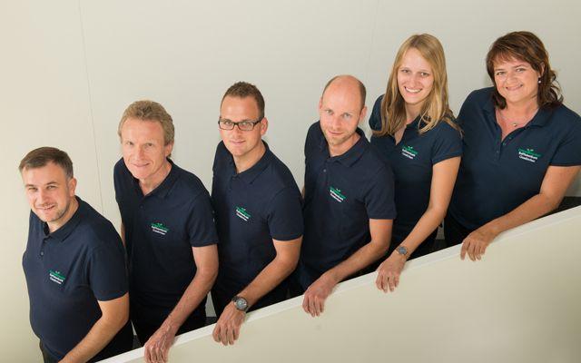 Das Team rund um Geschäftsleiter Hubert Pupeter (2.v.l.)